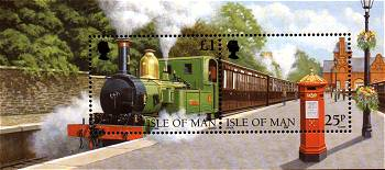 Manx Railway miniature sheet